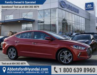 Used 2017 Hyundai Elantra Limited COMPANY DEMO CAR for sale in Abbotsford, BC
