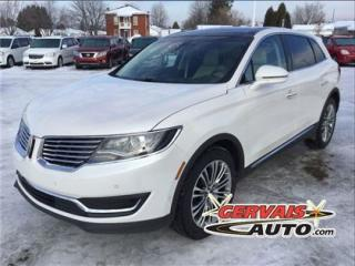 Used 2016 Lincoln MKX Reserve Awd Gps Cuir for sale in Saint-georges-de-champlain, QC