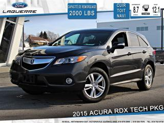 Used 2015 Acura RDX Tech Pkg Cuir Toit for sale in Victoriaville, QC