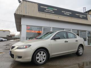Used 2007 Mazda MAZDA3 Manual,SPOTLESS,Air Conditioning, Certified, for sale in Mississauga, ON