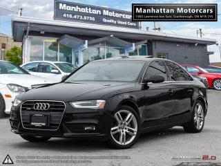 Used 2013 Audi A4 2.0T QUATTRO PREMIUM PLUS |NAV|ROOF|P.START|34K for sale in Scarborough, ON