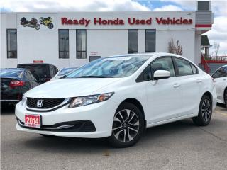 Used 2014 Honda Civic Sedan EX - Lane watch - Sunroof - Rear Camera for sale in Mississauga, ON