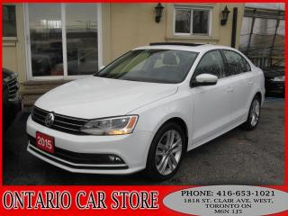 Used 2015 Volkswagen Jetta TDI HIGHLINE lEATHER sUNROOF for sale in Toronto, ON