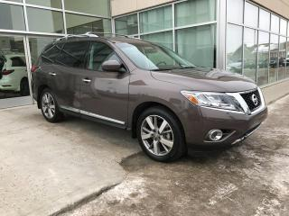Used 2015 Nissan Pathfinder PLATINUM/ALL WHEEL DRIVE/NAV/DVD/AROUND VIEW MONITOR/HEATED WHEEL for sale in Edmonton, AB