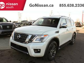 New 2018 Nissan Armada Platinum RESERVE, 4WD,DUAL DVD HEADRESTS, LEATHER, HEATED/COOLED SEATS, HEATED STEERING WHEEL, SUNROOF, POWER FOLDING REAR SEATS, BLUETOOTH for sale in Edmonton, AB