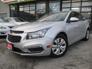 Used 2016 Chevrolet Cruze limited-LT 1LT BACK UP CAMERA-BLUETOOTH-REMTE STAR for sale in Scarborough, ON
