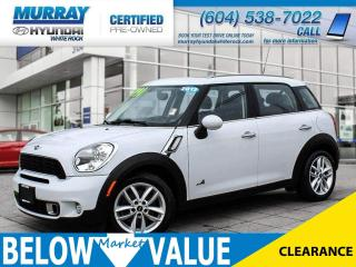 Used 2012 MINI Cooper Countryman S Loaded Mini Cooper! Sunroof, Alloy Wheels, 4 Door! for sale in Surrey, BC