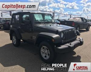 Used 2017 Jeep Wrangler SPORT for sale in Edmonton, AB