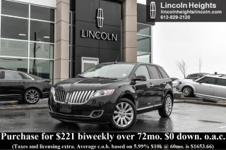 Used 2014 Lincoln MKX AWD - LEATHER - BLUETOOTH - NAV - BLIND SPOT MONITORING for sale in Ottawa, ON