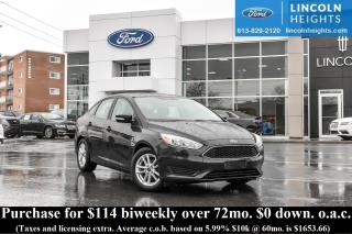 Used 2015 Ford Focus SE SEDAN - BLUETOOTH for sale in Ottawa, ON