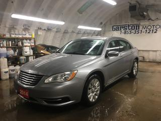 Used 2014 Chrysler 200 KEYLESS ENTRY*POWER WINDOWS/LOCKS/HEATED MIRRORS*CLIMATE CONTROL*CRUISE CONTROL*TRACTION CONTROL*AM/FM/CD/AUX*ALLOYS* for sale in Cambridge, ON