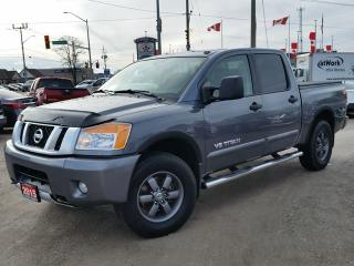 Used 2015 Nissan Titan PRO-4X 4WD w/all leather,NAV,pwr moonroof,rear cam,running boards, tonneau cover for sale in Cambridge, ON