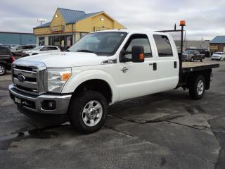 Used 2014 Ford F-350 XLTCrewCab 4X4 6.7L Diesel 9ft FlatBed for sale in Brantford, ON
