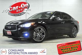 Used 2014 Infiniti Q50 Q50S DELUXE TOURING & TECH AWD LEATHER NAV SUNROOF for sale in Ottawa, ON