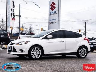 Used 2012 Ford Focus Titanium ~Nav ~Backup Cam ~Power Moonroof ~Leather for sale in Barrie, ON