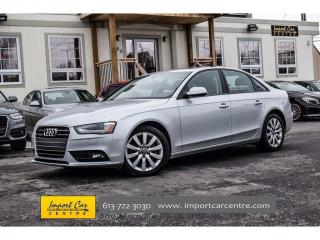 Used 2014 Audi A4 Komfort 6SPEED LEATHER ROOF STUNNING for sale in Ottawa, ON
