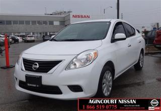 Used 2012 Nissan Versa Sedan 1.6 SV CVT |Bluetooth| Cruise Control|Power for sale in Scarborough, ON