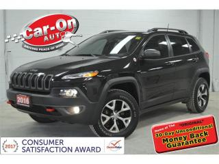 Used 2016 Jeep Cherokee Trailhawk 4X4 LEATHER REAR CAM ALLOYS LOADED for sale in Ottawa, ON