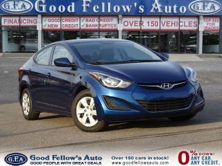 Used 2016 Hyundai Elantra L+ MODEL, Power Windows, Power Door Locks for sale in North York, ON