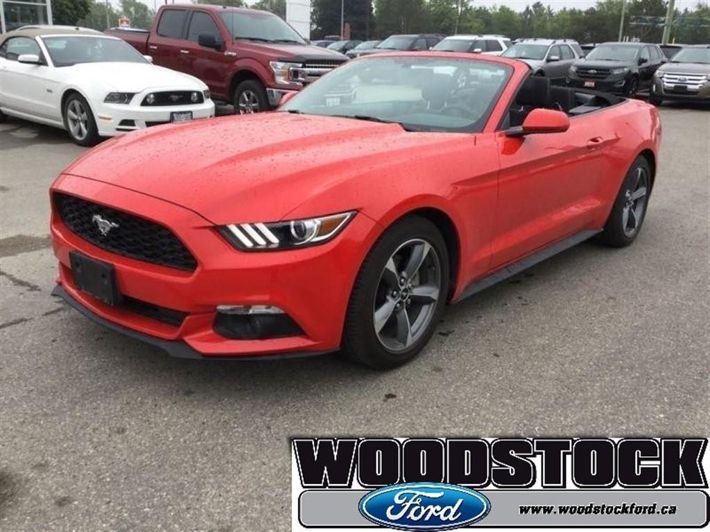 2017 ford mustang v6 race red convertible
