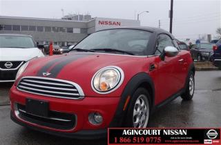 Used 2013 MINI Cooper Coupe Cooper |BLUETOOTH|POWER WINDOWS| XM RADIO AND USB| for sale in Scarborough, ON