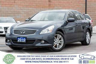 Used 2010 Infiniti G37X  AWD 1-OWNER BackupCam Sunroof Leather Bluetooth for sale in Caledon, ON