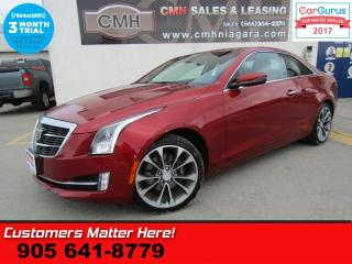Used 2015 Cadillac ATS 2.0 Turbo Premium  AWD PREMIUM CUE NAV ROOF HUD HTD-WHEEL P/SEAT MEM HS 18 for sale in St Catharines, ON