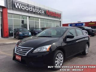 Used 2014 Nissan Sentra S  - Bluetooth - $78.15 B/W for sale in Woodstock, ON