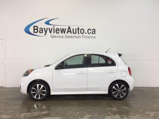 Used 2015 Nissan Micra SR - 5 SPEED|ALLOYS|A/C|REV CAM|BLUETOOTH|CRUISE! for sale in Belleville, ON