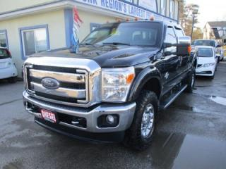 Used 2015 Ford F-350 1-TON DIESEL LOADED XLT EDITION 6 PASSENGER 6.7L - V8.. 4X4.. CREW.. SHORTY.. LEATHER.. HEATED SEATS.. BACK-UP CAMERA.. BLUETOOTH.. TRAILER BRAKE.. for sale in Bradford, ON