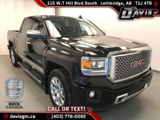 Used 2015 GMC Sierra 1500 Denali 6.2L V8, HEATED & COOLED LEATHER, HEATED STEERING WHEEL for sale in Lethbridge, AB