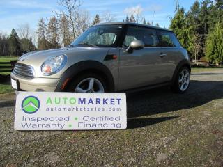 Used 2008 MINI Cooper AUTO, MOONROOF, INSPECTED, FREE WARRANTY for sale in Surrey, BC