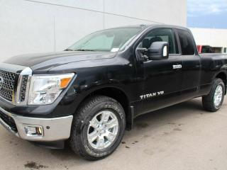 New 2018 Nissan Titan SV: RearView Monitor, Active Brake Limited Slip, Vehicle Dynamic Control, Traction Control System, Tire Pressure Monitoring System, 5.6-litre 32-valve V8 engine, 7-speed automatic transmission, switch-operated 2-speed transfer case (4WD), oil pan and fuel for sale in Edmonton, AB
