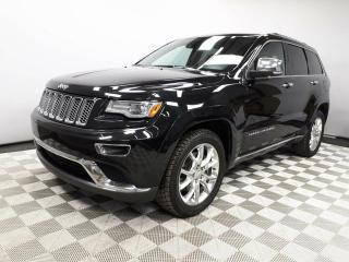 Used 2014 Jeep Grand Cherokee Summit 5.7L HEMI - Local One Owner Trade In   No Accidents   Navigation   Back Up Camera   Parking Sensors   Panoramic Sunroof   20 Inch Wheels   Air Suspension   Adjustable Drive Modes   Radar Cruise Control   Blind Spot Monitor   Pre-Collision Warning   for sale in Edmonton, AB