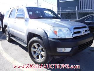 Used 2003 Toyota 4RUNNER SR5 SUV 4WD for sale in Calgary, AB