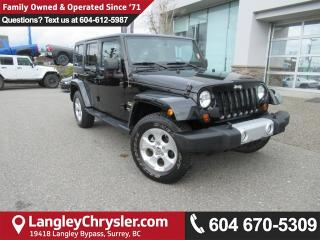 Used 2013 Jeep Wrangler Unlimited Sahara <B>*LOW KMS*NAVIGATION*LEATHER*<b> for sale in Surrey, BC