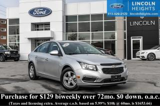 Used 2015 Chevrolet Cruze 2LT Auto for sale in Ottawa, ON