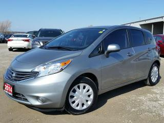 Used 2014 Nissan Versa SV w/power heated mirrors,keyless entry,bluetooth,leather wrap steering wheel for sale in Cambridge, ON