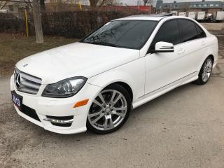 Used 2013 Mercedes-Benz C350 4matic NAVI BACK UP CAM BLUETOOTH for sale in Brampton, ON