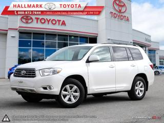 Used 2010 Toyota Highlander 4WD V6 5A for sale in Mono, ON