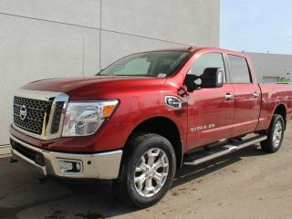 New 2018 Nissan Titan XD SV PREMIUM: Blind Spot Warning, Navigation, Heated front seats, RearView Monitor, Front and Rear Sonar System, Rain-sensing wipers, Body-colour rear bumper, Automatic on/off headlights, Power heated manually extendable tow mirrors with turn signal indi for sale in Edmonton, AB