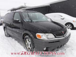 Used 2001 Pontiac Montana 4D EXT WAGON for sale in Calgary, AB