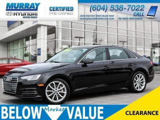 Used 2017 Audi A4 2.0T Progressiv**NAV**REAR CAMERA**HEATED SEATS** for sale in Surrey, BC