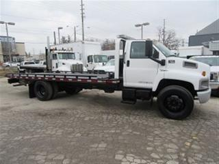 Used 2007 GMC 7500 Diesel 2 car tow truck 21 1 /2 ft flat bed for sale in Richmond Hill, ON