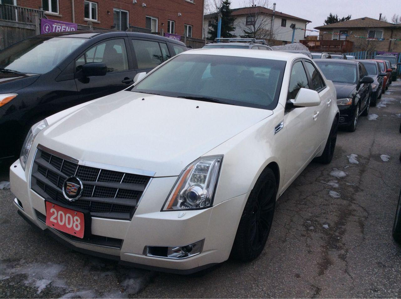 2008 Cadillac CTS AWD/Nav/Bluetooth/Leather/AUX-USB/Heated Seats