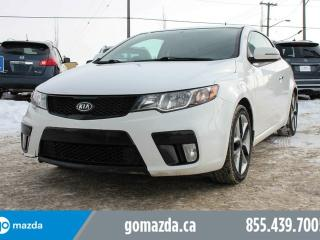 Used 2012 Kia Forte Koup SX LUXURY LEATHER SUNROOF NEW TIRES ACCIDENT FREE for sale in Edmonton, AB