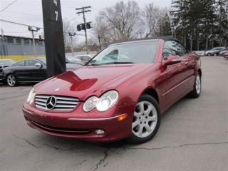 Used 2004 Mercedes-Benz CLK CLK 320 CONVERTIBLE ~ 59KMS ~ LOW KMS !!! for sale in Burlington, ON
