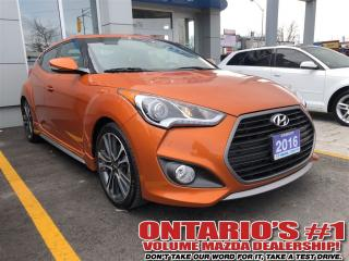 Used 2016 Hyundai Veloster Turbo Navi/Sunroof/ONLY13, 993 KMS!!!-TORONTO for sale in North York, ON