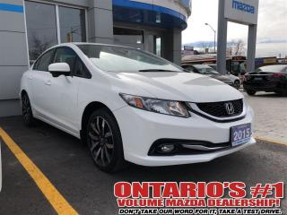 Used 2015 Honda Civic TOURING/ LEATHER/ NAVIGATION/ SUNROOF-TORONTO for sale in North York, ON