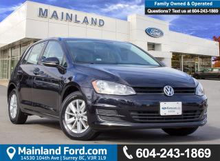 Used 2015 Volkswagen Golf 1.8 TSI Trendline LOW KMS, BC LOCAL for sale in Surrey, BC